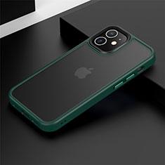 Coque Contour Silicone et Plastique Housse Etui Mat N01 pour Apple iPhone 12 Mini Vert