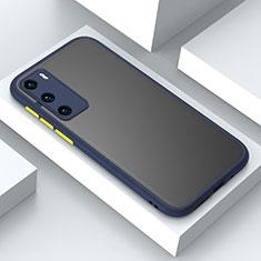 Coque Contour Silicone et Plastique Housse Etui Mat N02 pour Huawei P40 Bleu