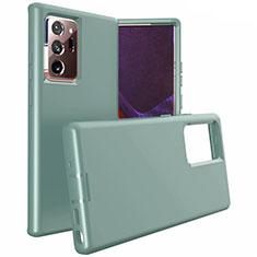 Coque Contour Silicone et Plastique Housse Etui Mat N02 pour Samsung Galaxy Note 20 Ultra 5G Vert Nuit