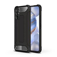 Coque Contour Silicone et Plastique Housse Etui Mat pour Huawei Honor 30 Noir