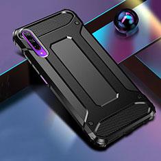Coque Contour Silicone et Plastique Housse Etui Mat pour Huawei Honor 9X Pro Noir