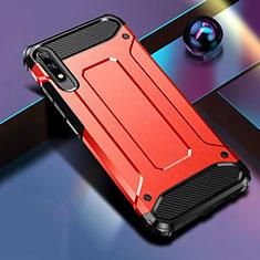 Coque Contour Silicone et Plastique Housse Etui Mat pour Huawei Honor 9X Rouge
