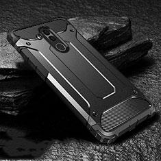 Coque Contour Silicone et Plastique Housse Etui Mat pour Huawei Mate 20 Lite Noir