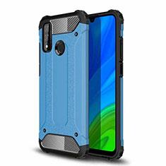Coque Contour Silicone et Plastique Housse Etui Mat pour Huawei P Smart (2020) Bleu Ciel