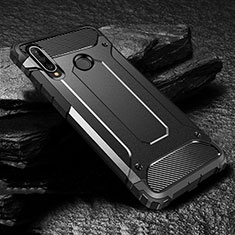Coque Contour Silicone et Plastique Housse Etui Mat pour Huawei P30 Lite Noir
