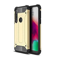 Coque Contour Silicone et Plastique Housse Etui Mat pour Motorola Moto G8 Play Or