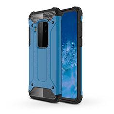 Coque Contour Silicone et Plastique Housse Etui Mat pour Motorola Moto One Zoom Bleu Ciel