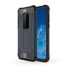 Coque Contour Silicone et Plastique Housse Etui Mat pour Motorola Moto One Zoom Bleu Royal