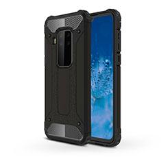 Coque Contour Silicone et Plastique Housse Etui Mat pour Motorola Moto One Zoom Noir