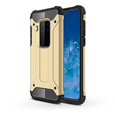 Coque Contour Silicone et Plastique Housse Etui Mat pour Motorola Moto One Zoom Or