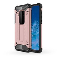 Coque Contour Silicone et Plastique Housse Etui Mat pour Motorola Moto One Zoom Or Rose