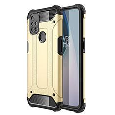Coque Contour Silicone et Plastique Housse Etui Mat pour OnePlus Nord N10 5G Or