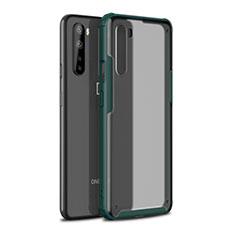 Coque Contour Silicone et Plastique Housse Etui Mat pour OnePlus Nord Vert Nuit