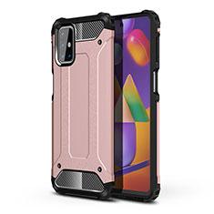 Coque Contour Silicone et Plastique Housse Etui Mat pour Samsung Galaxy M31s Or Rose