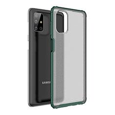 Coque Contour Silicone et Plastique Housse Etui Mat pour Samsung Galaxy M51 Vert