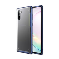 Coque Contour Silicone et Plastique Housse Etui Mat pour Samsung Galaxy Note 10 5G Bleu