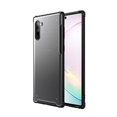 Coque Contour Silicone et Plastique Housse Etui Mat pour Samsung Galaxy Note 10 Noir