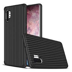 Coque Contour Silicone et Plastique Housse Etui Mat pour Samsung Galaxy Note 10 Plus 5G Noir