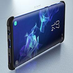 Coque Contour Silicone et Plastique Housse Etui Mat pour Samsung Galaxy S10 Plus Noir