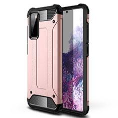 Coque Contour Silicone et Plastique Housse Etui Mat pour Samsung Galaxy S20 FE 5G Or Rose