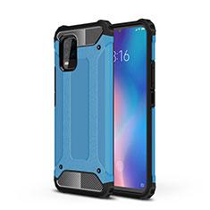 Coque Contour Silicone et Plastique Housse Etui Mat pour Xiaomi Mi 10 Lite Bleu Ciel