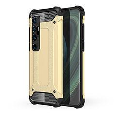 Coque Contour Silicone et Plastique Housse Etui Mat pour Xiaomi Mi 10 Ultra Or