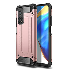 Coque Contour Silicone et Plastique Housse Etui Mat pour Xiaomi Mi 10T 5G Or Rose
