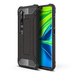 Coque Contour Silicone et Plastique Housse Etui Mat pour Xiaomi Mi Note 10 Noir