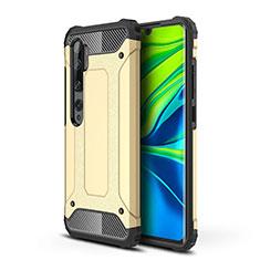 Coque Contour Silicone et Plastique Housse Etui Mat pour Xiaomi Mi Note 10 Or