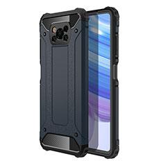 Coque Contour Silicone et Plastique Housse Etui Mat pour Xiaomi Poco X3 NFC Bleu Royal