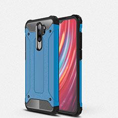Coque Contour Silicone et Plastique Housse Etui Mat pour Xiaomi Redmi Note 8 Pro Bleu
