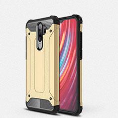 Coque Contour Silicone et Plastique Housse Etui Mat pour Xiaomi Redmi Note 8 Pro Or