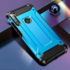 Coque Contour Silicone et Plastique Housse Etui Mat pour Xiaomi Redmi Note 8T Bleu