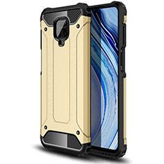 Coque Contour Silicone et Plastique Housse Etui Mat pour Xiaomi Redmi Note 9 Pro Or