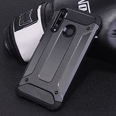 Coque Contour Silicone et Plastique Housse Etui Mat R01 pour Huawei Honor 20 Lite Noir