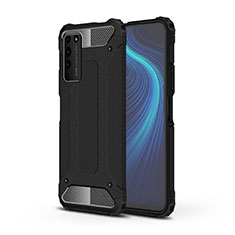 Coque Contour Silicone et Plastique Housse Etui Mat R01 pour Huawei Honor X10 5G Noir