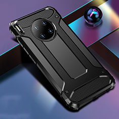 Coque Contour Silicone et Plastique Housse Etui Mat R01 pour Huawei Mate 30 5G Noir