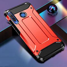 Coque Contour Silicone et Plastique Housse Etui Mat R01 pour Huawei P30 Lite Rouge