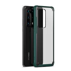 Coque Contour Silicone et Plastique Housse Etui Mat R01 pour Huawei P40 Pro+ Plus Vert