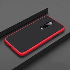 Coque Contour Silicone et Plastique Housse Etui Mat R01 pour OnePlus 7T Pro Rouge
