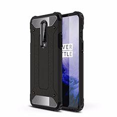 Coque Contour Silicone et Plastique Housse Etui Mat R01 pour OnePlus 8 Noir
