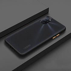 Coque Contour Silicone et Plastique Housse Etui Mat R01 pour Oppo A92 Noir