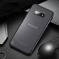 Coque Contour Silicone et Plastique Housse Etui Mat R01 pour Samsung Galaxy S10e Noir