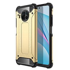 Coque Contour Silicone et Plastique Housse Etui Mat R01 pour Xiaomi Mi 10T Lite 5G Or