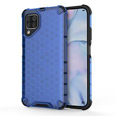 Coque Contour Silicone et Plastique Housse Etui Mat R02 pour Huawei Nova 6 SE Bleu