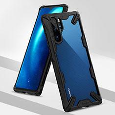 Coque Contour Silicone et Plastique Housse Etui Mat R02 pour Huawei P30 Pro Noir