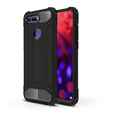 Coque Contour Silicone et Plastique Housse Etui Mat R03 pour Huawei Honor View 20 Noir