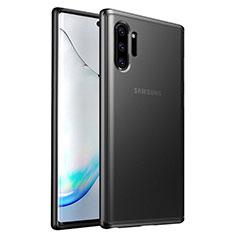 Coque Contour Silicone et Plastique Housse Etui Mat R03 pour Samsung Galaxy Note 10 Plus 5G Noir