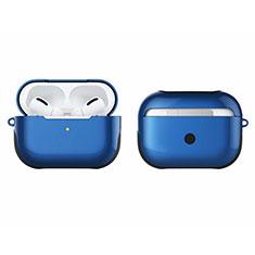 Coque Contour Silicone et Plastique Housse Etui Mat U01 pour Apple AirPods Pro Bleu