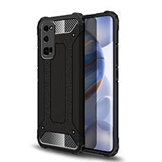 Coque Contour Silicone et Plastique Housse Etui Mat U01 pour Huawei Honor 30 Pro Noir